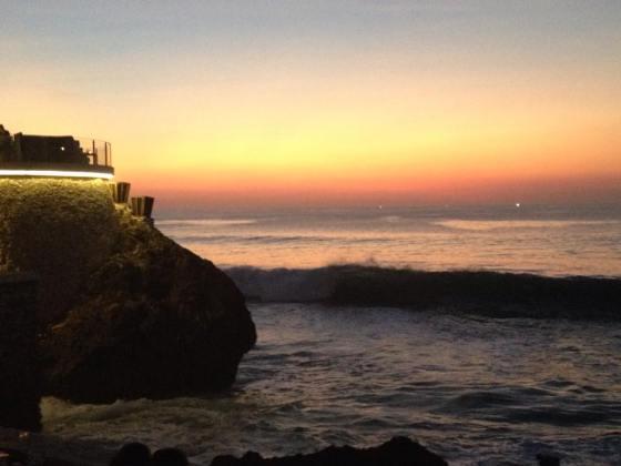 Romantic sunset in Bali